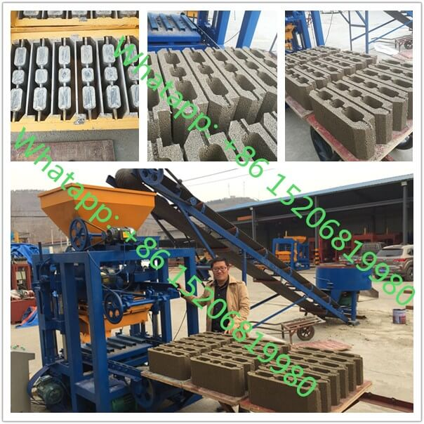 QT4-24 semi automatic concrete block making machine for hourdis